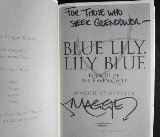 Maggie Stiefvater - Signed Blue Lily Giveaway