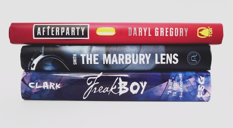 May2015_BookHaulSpinePoetry_afterparty-marbury-lens-freakboy